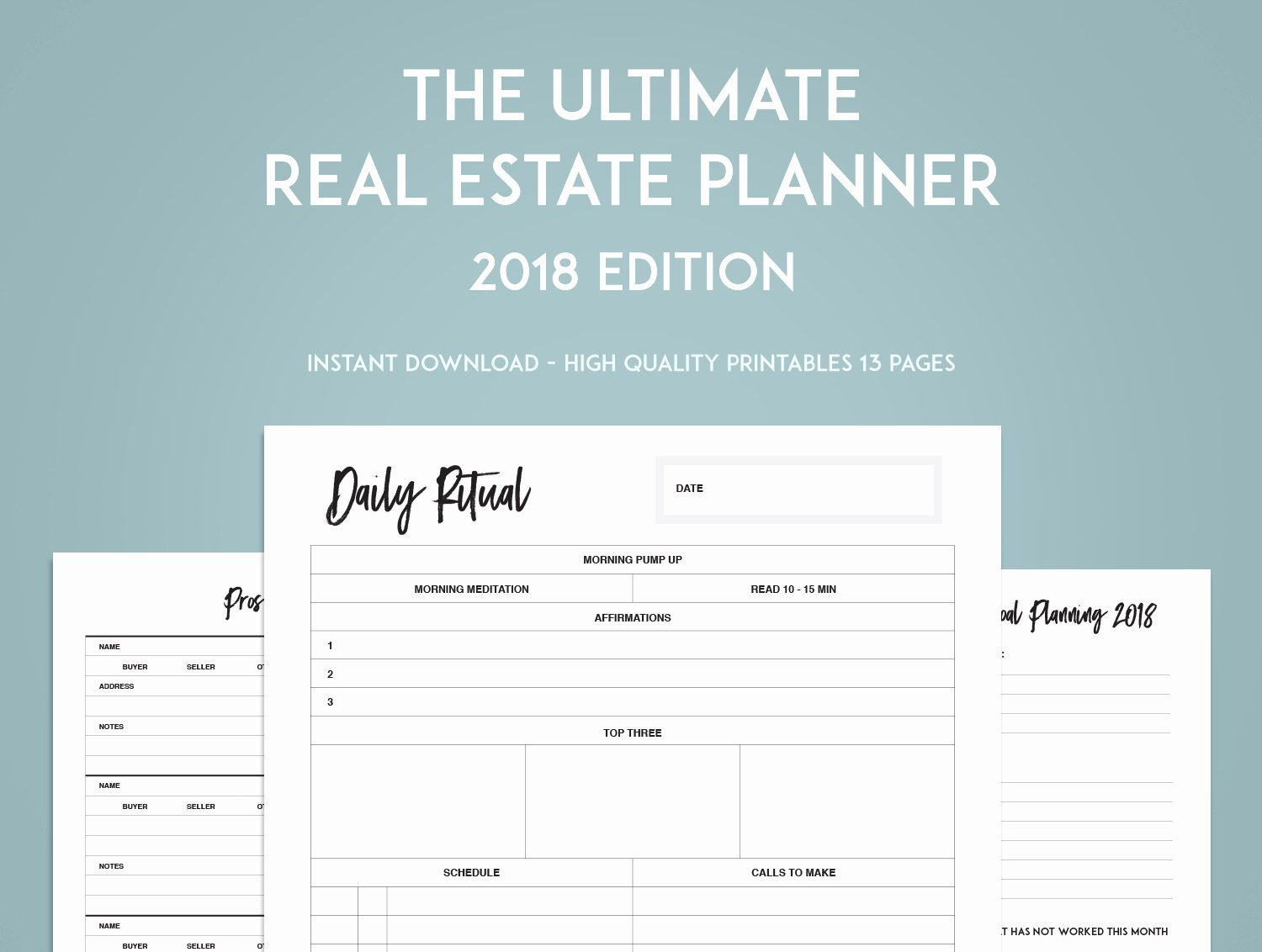 Real Estate Goals Template Unique the Ultimate Real Estate Goal Planner Sweet Paper Trail