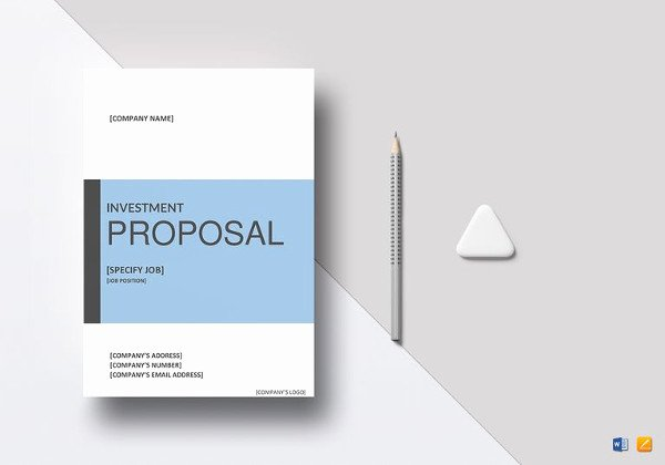 Real Estate Investment Proposal Template Best Of 18 Investment Proposal Templates Word Pdf Pages