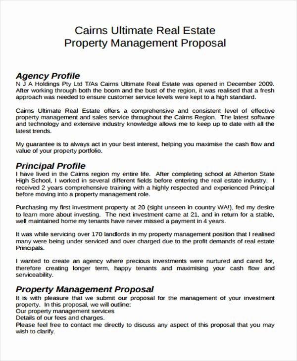 Real Estate Investment Proposal Template Inspirational 13 Real Estate Business Proposal Templates Free Word