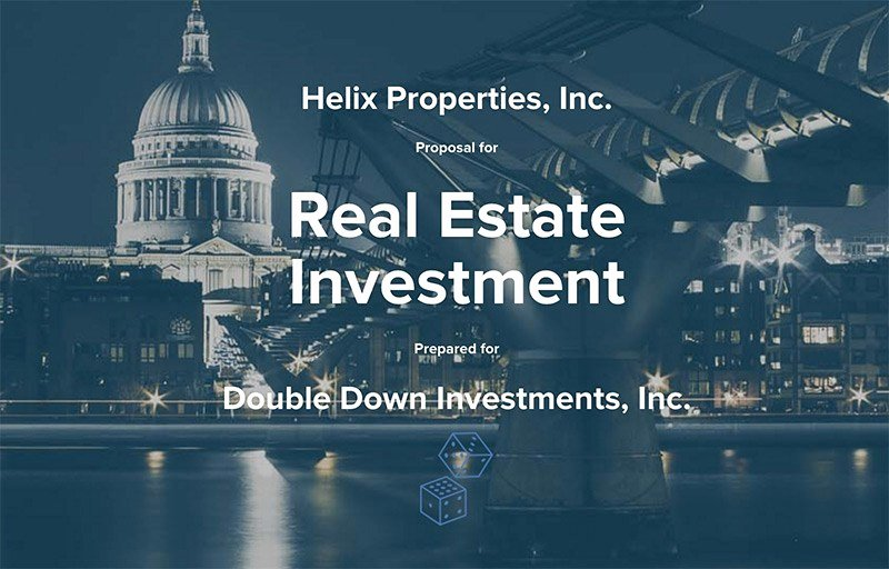 Real Estate Investment Proposal Template Luxury Template Library Qwilr