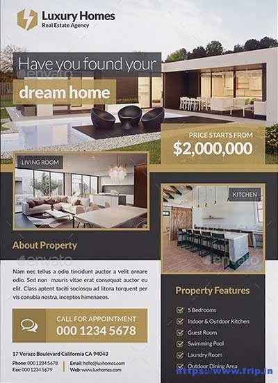 real estate flyer print templates