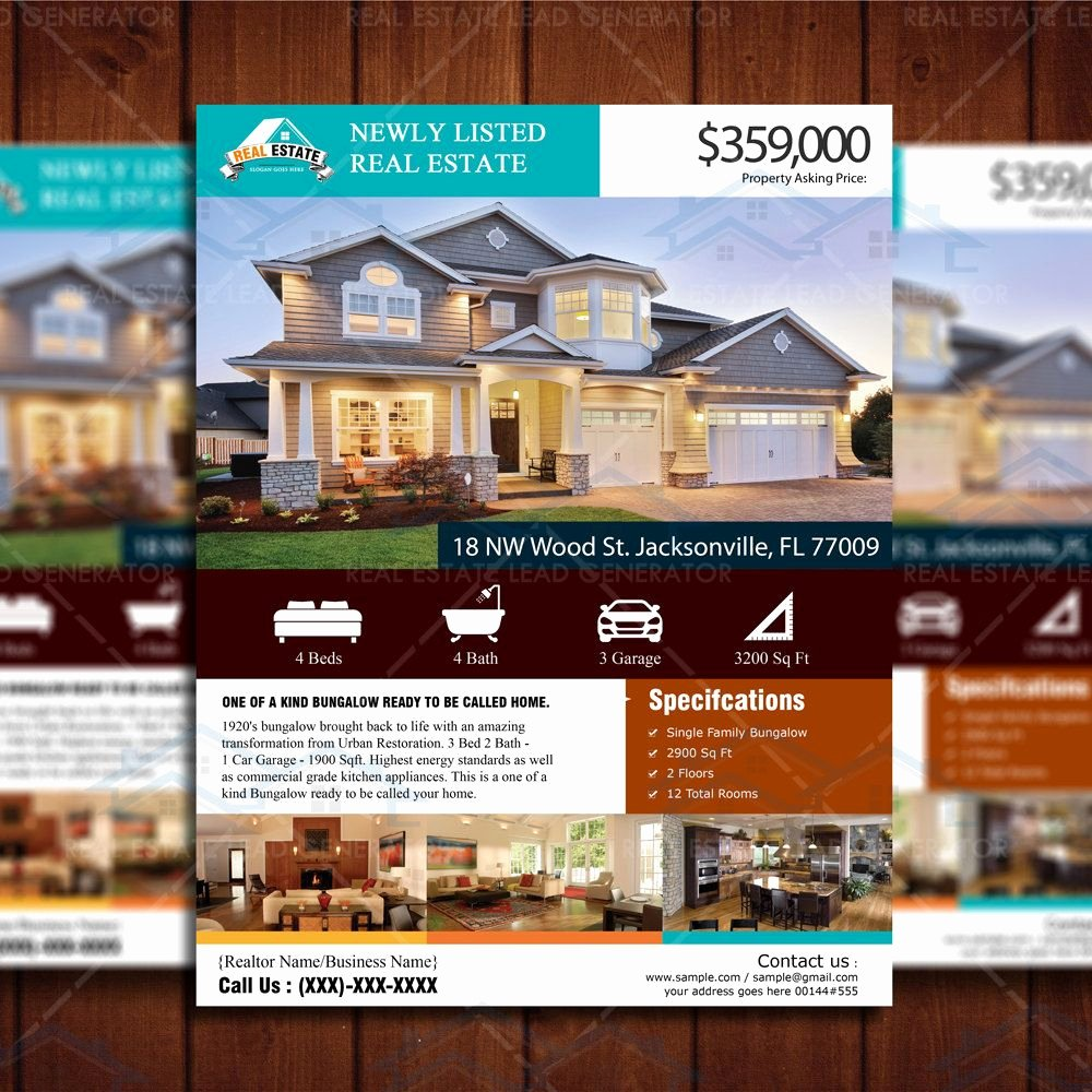 Real Estate Listing Flyer Template Best Of Custom Flyer Design New Listed Realtor Flyer Real Estate