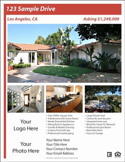 Real Estate Listing Flyer Template Elegant Real Estate Flyer Templates the Best Free & Paid List