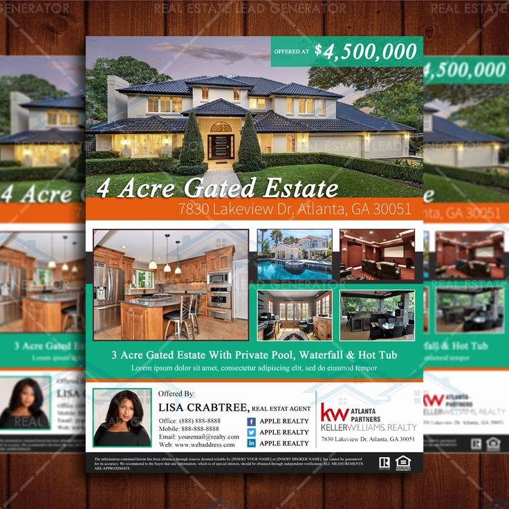 Real Estate Listing Flyer Template Fresh 14 Best Images About Real Estate Flyers On Pinterest