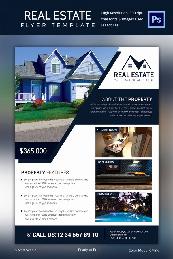 Real Estate Listing Flyer Template Fresh Real Estate Flyer Template 37 Free Psd Ai Vector Eps