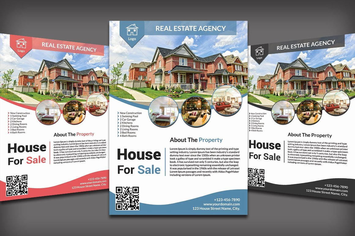 Real Estate Listing Flyer Template Inspirational Real Estate Flyer Flyer Templates Creative Market