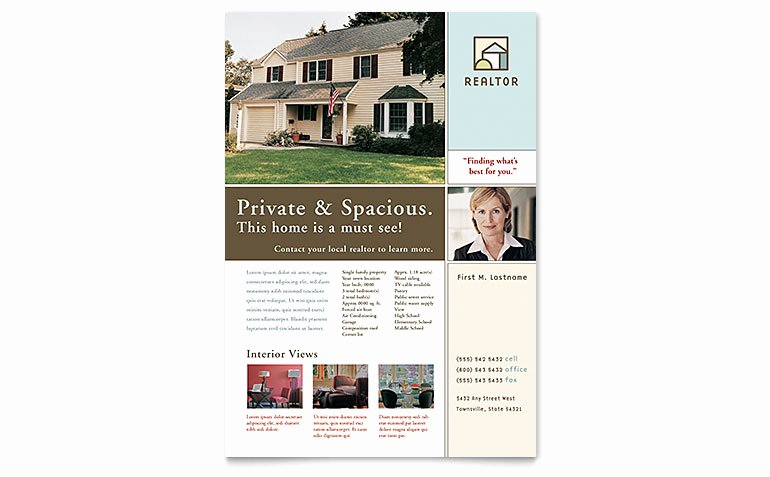 Real Estate Listing Flyer Template Lovely House for Sale Real Estate Flyer Template Word & Publisher