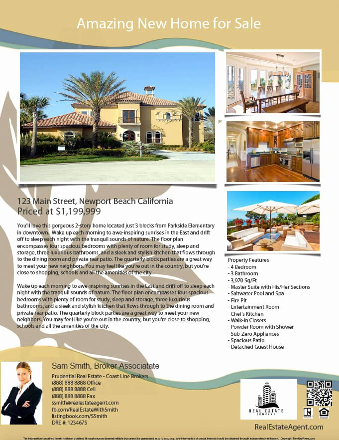 Real Estate Listing Flyer Template Lovely Real Estate Flyers Pdf Templates Turnkey Flyers