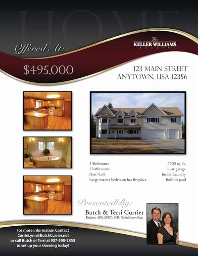 Real Estate Listing Flyer Template Luxury Property Listing Flyers Real Estate Marketing Designed