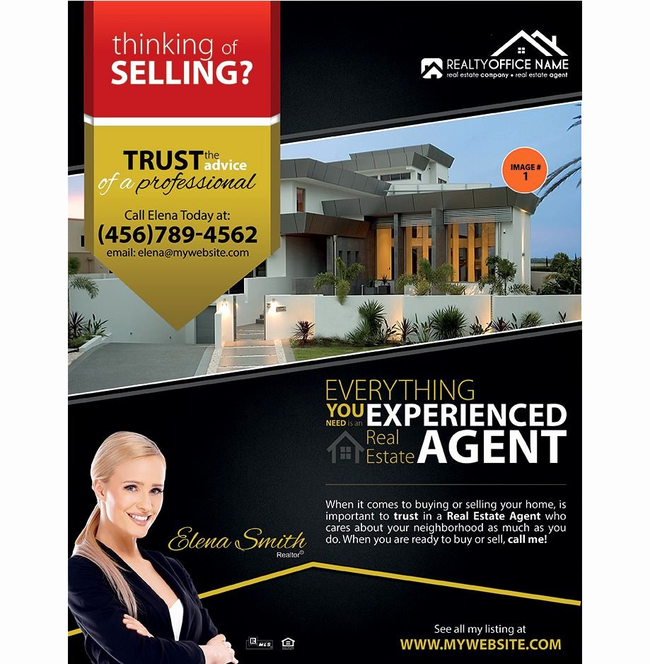 Real Estate Listing Flyer Template Luxury Real Estate Flyer Ideas Real Estate Agent Flyer Ideas