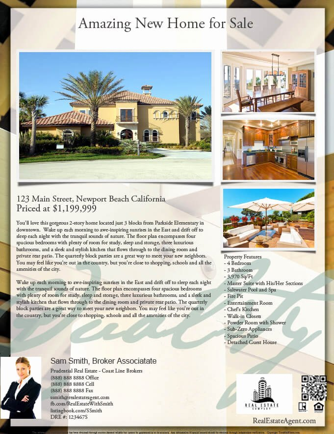 Real Estate Listing Flyer Template Luxury Real Estate Flyers Pdf Templates Turnkey Flyers