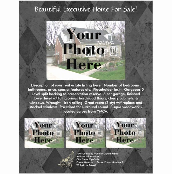 Real Estate Listing Flyer Template Unique 50 Real Estate Marketing Flyer Templates Word Psd Ai