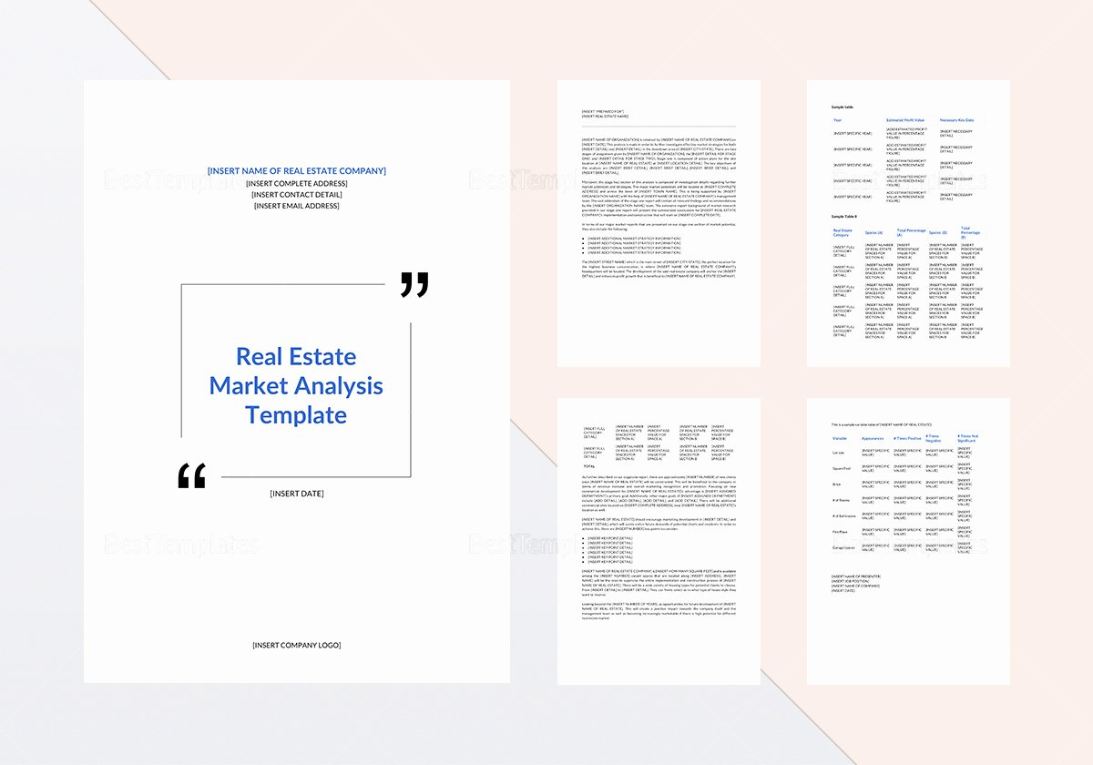 Real Estate Market Analysis Template Elegant Real Estate Market Analysis Template In Word Google Docs
