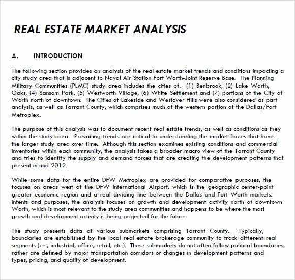 Real Estate Market Analysis Template Inspirational Research Paper Industry Analysis Example