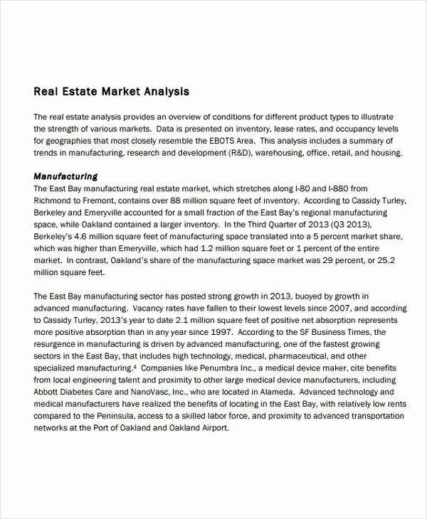 Real Estate Market Analysis Template Unique 10 Real Estate Market Analysis Templates Pdf