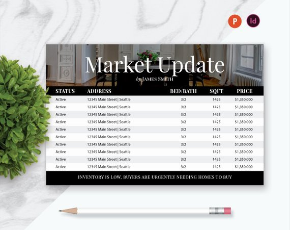 Real Estate Market Update Template Beautiful 8 5 X 5 5 Real Estate Postcard Template Market