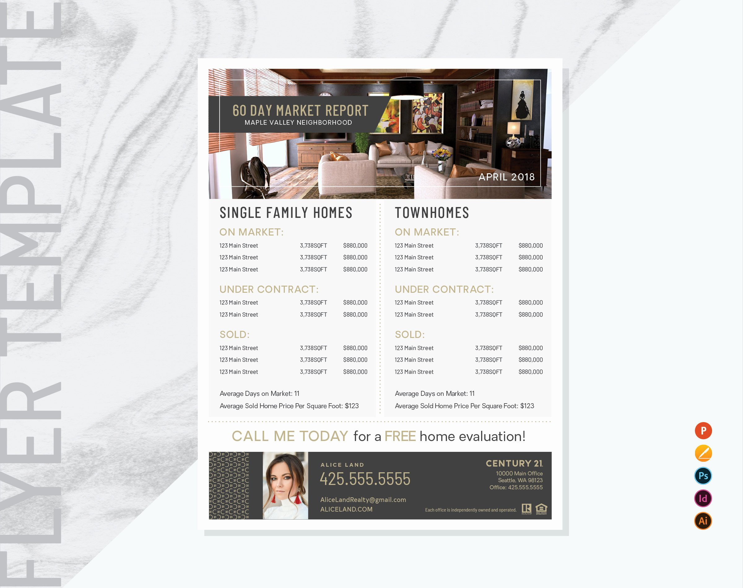 Real Estate Market Update Template Beautiful Century 21 Real Estate Market Update Flyer Template Real