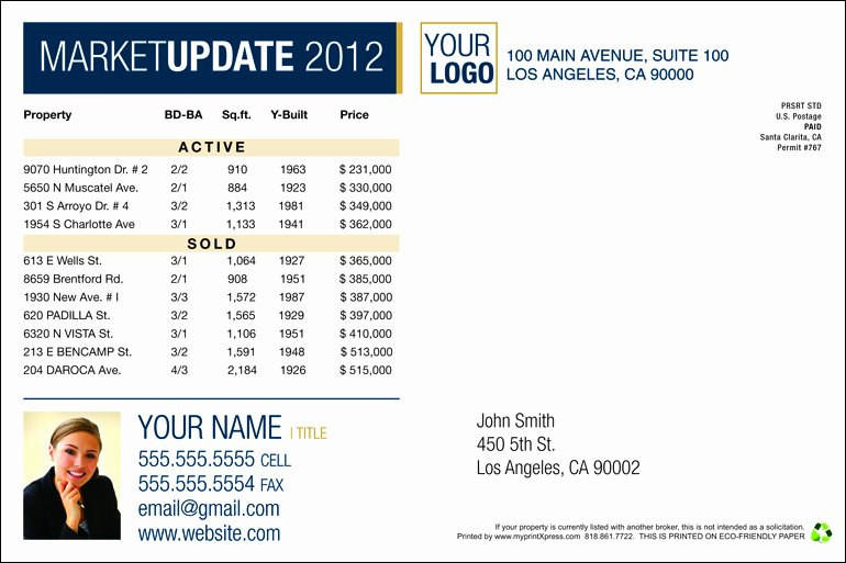 Real Estate Market Update Template Elegant Back