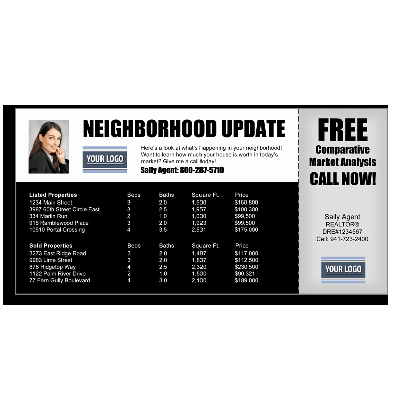 Real Estate Market Update Template Elegant Eddm Postcards Templates Prospectsplus