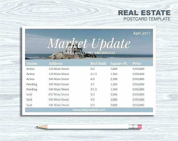 Real Estate Market Update Template New Avery 4×6 Postcard Template Market Update Real Estate 6 X