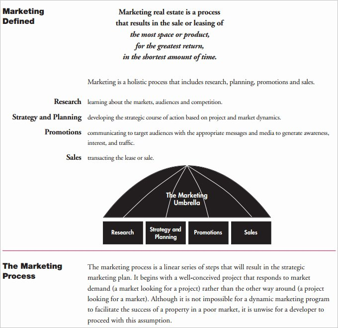 Real Estate Marketing Plan Template Awesome Real Estate Marketing Plan Template 10 Free Pdf