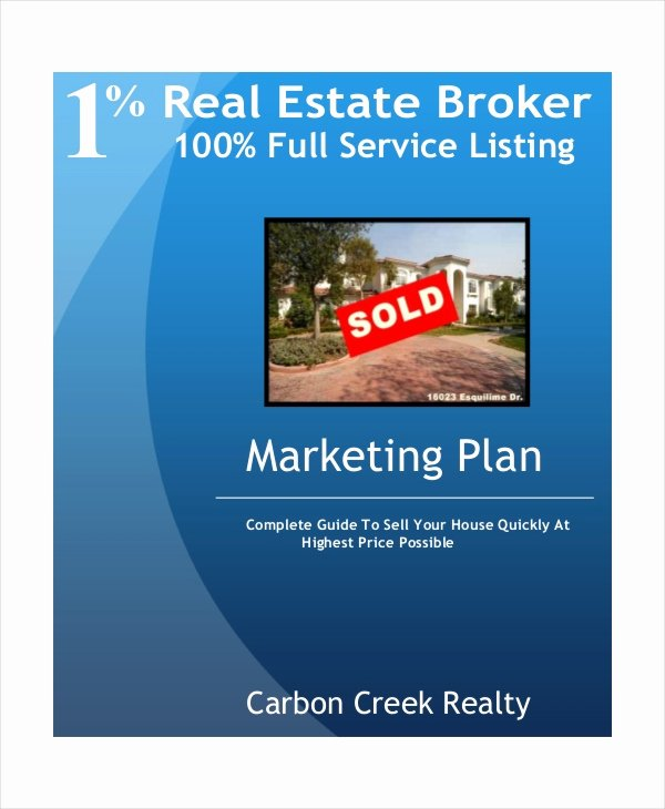 Real Estate Marketing Plan Template Best Of 20 Marketing Plan Templates