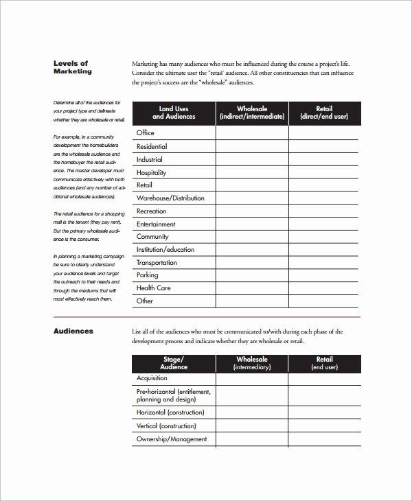 Real Estate Marketing Plan Template Elegant 6 Marketing Schedule Templates