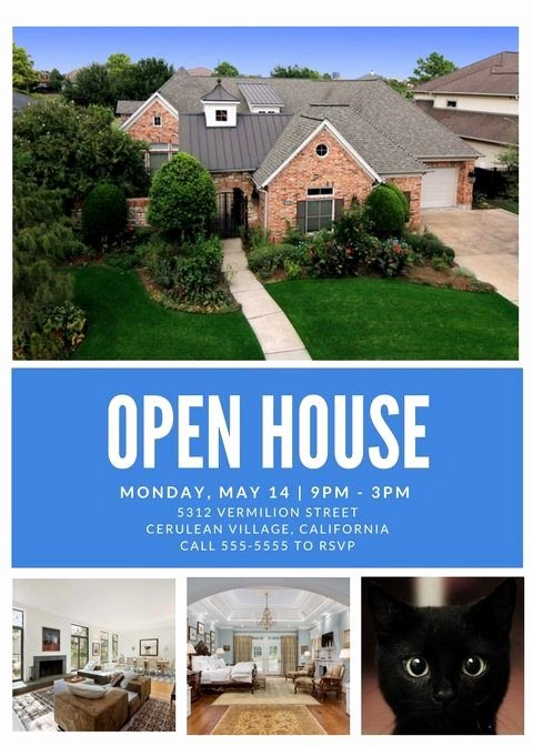 Real Estate Open House Template Awesome Open House Flyer Template Canva Open House