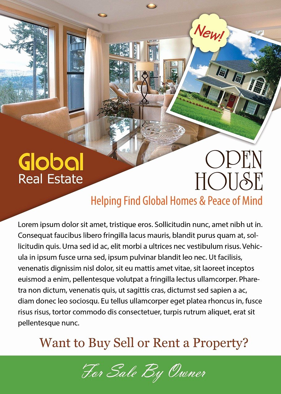 Real Estate Open House Template Awesome Open House Flyer Template Shop Version Free Flyer