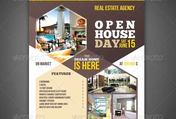 Real Estate Open House Template Elegant 20 Nice Open House Flyer Templates