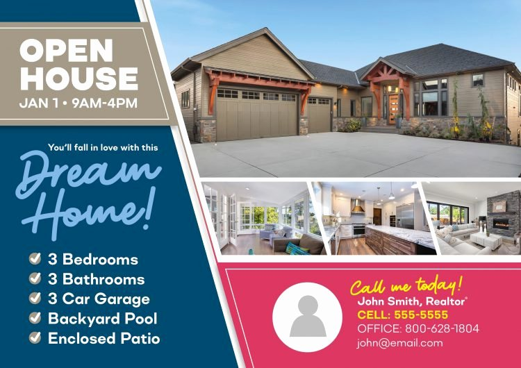 Real Estate Open House Template Fresh 6 Gorgeous Real Estate Open House Invitation Postcard