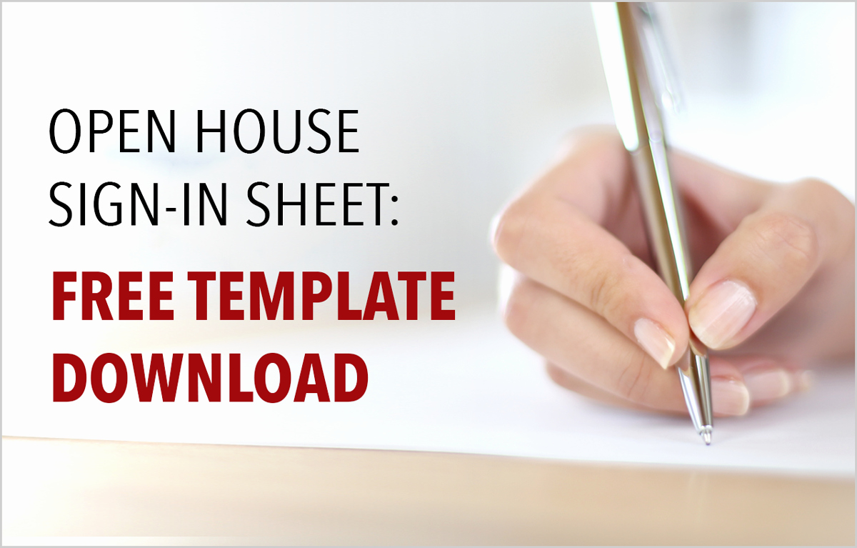 Real Estate Open House Template Inspirational Real Estate Open House Sign In Sheet Free Template