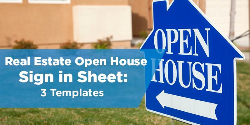 Real Estate Open House Template Lovely Real Estate Open House Sign In Sheet Templates 3 Options
