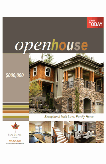 Real Estate Open House Template Unique Download Real Estate Poster Open House 11x17 Free Flyer