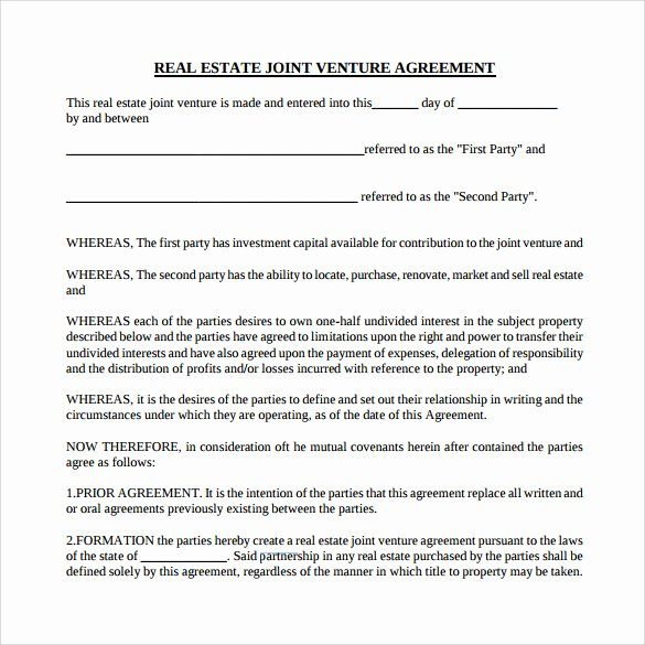 Real Estate Partnership Agreement Template Inspirational 10 Real Estate Partnership Agreement Templates to Download