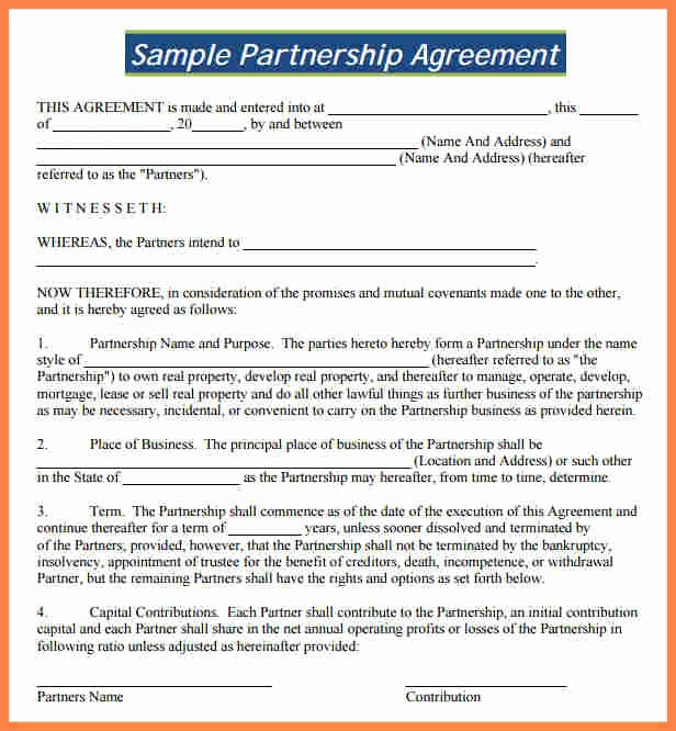 Real Estate Partnership Agreement Template New 8 Partnership Agreement Template south Africa