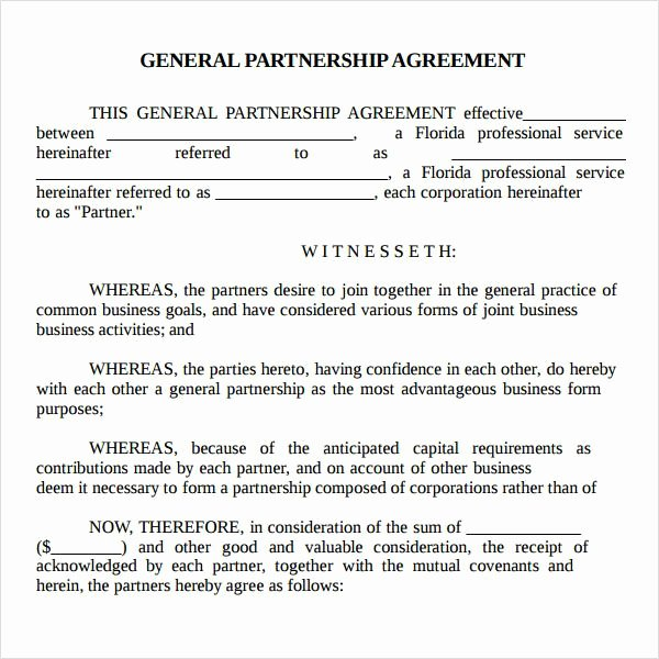 Real Estate Partnership Agreement Template New Printable Sample Partnership Agreement Sample form