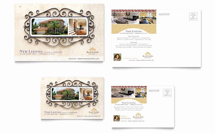 Real Estate Postcard Template Beautiful Luxury Real Estate Postcard Template Design