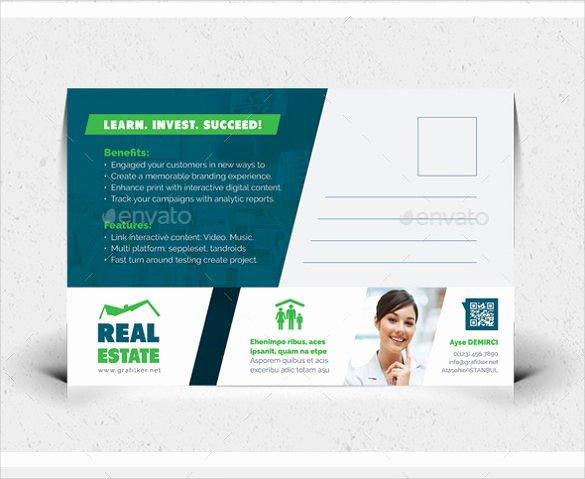 Real Estate Postcard Template Elegant 18 Real Estate Postcard Templates – Free Sample Example