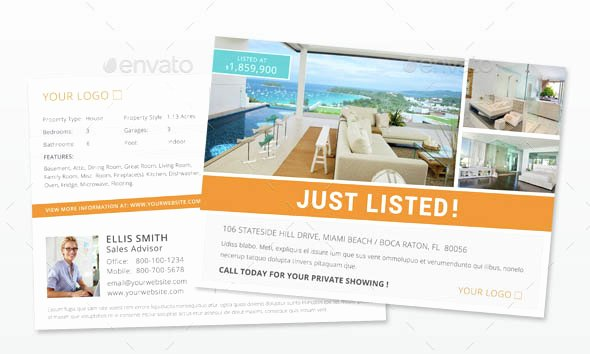 Real Estate Postcard Template Elegant Indesign Flyer Templates top 50 Indd Flyers for 2018