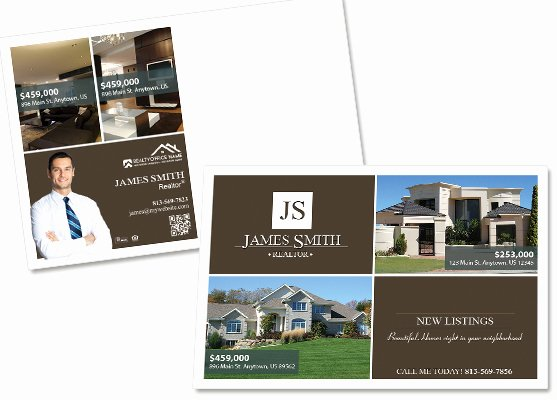Real Estate Postcard Template Elegant Property Management Postcards Residential Management