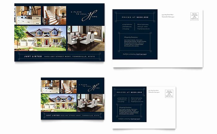 Real Estate Postcard Template Luxury Real Estate Marketing Postcards – Quick & Easy Templates