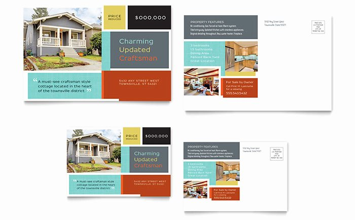 Real Estate Postcard Template New Real Estate Marketing Postcards – Quick & Easy Templates