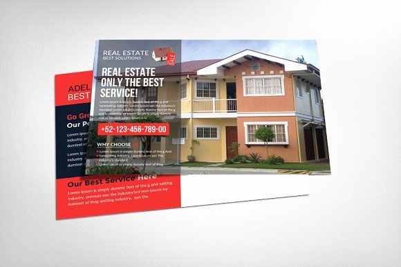 Real Estate Postcard Template New Real Estate Postcard Template Card Templates On Creative