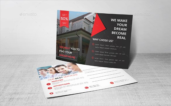 Real Estate Postcard Template Unique 18 Real Estate Postcard Templates – Free Sample Example