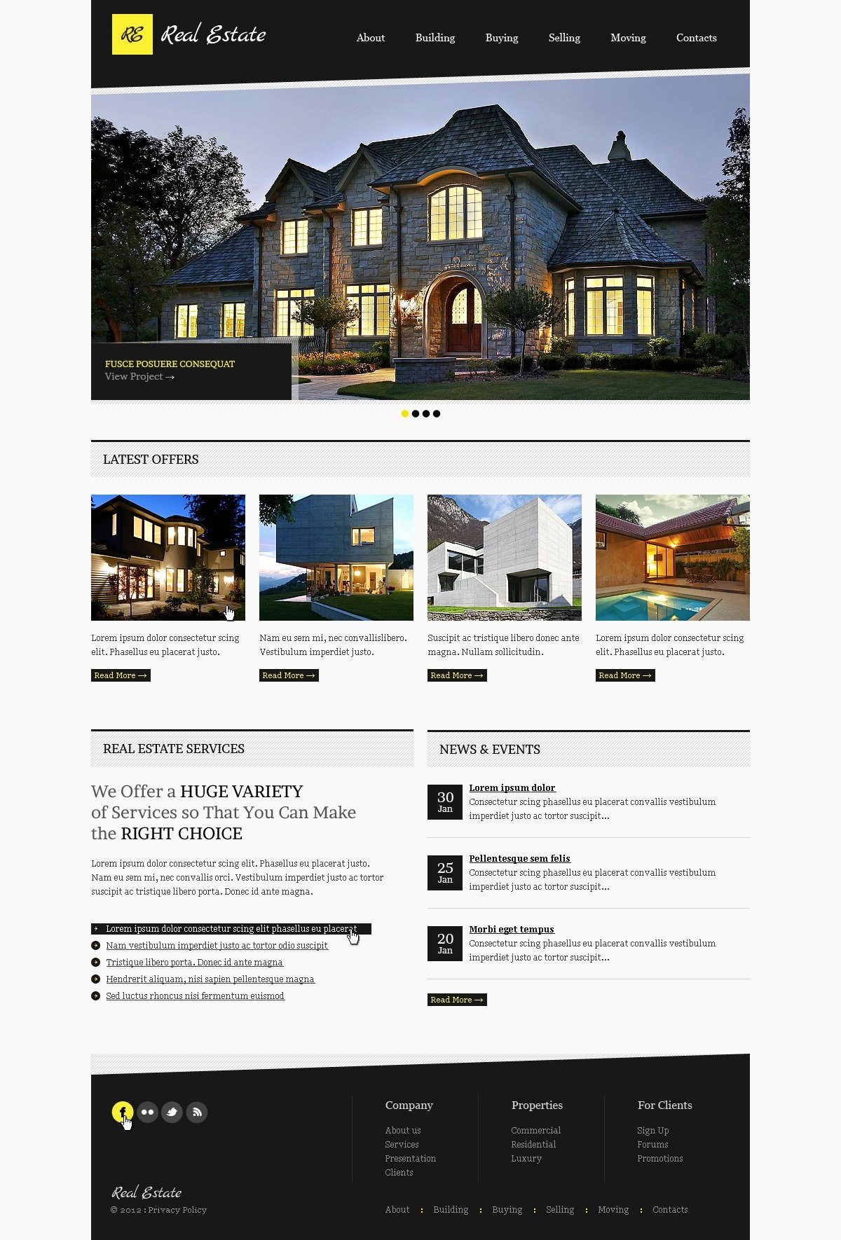 Real Estate Website Template Awesome Real Estate Website Template