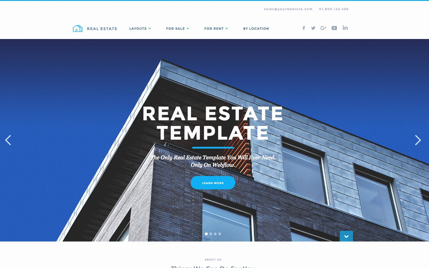 Real Estate Website Template Awesome Real Estate Website Templates Available at Webflow