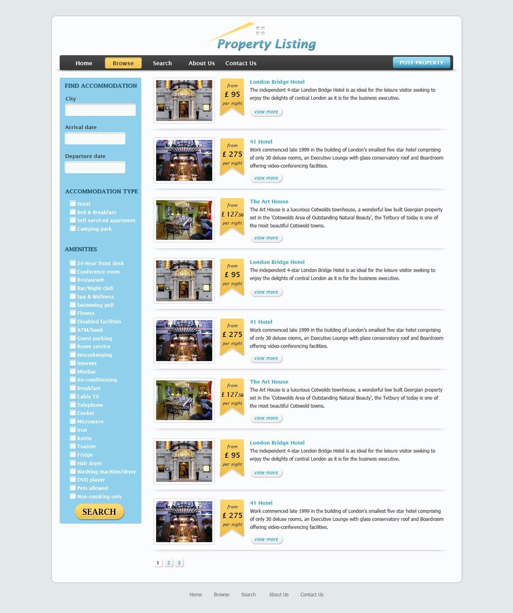 Real Estate Website Template Beautiful Real Estate Website Template