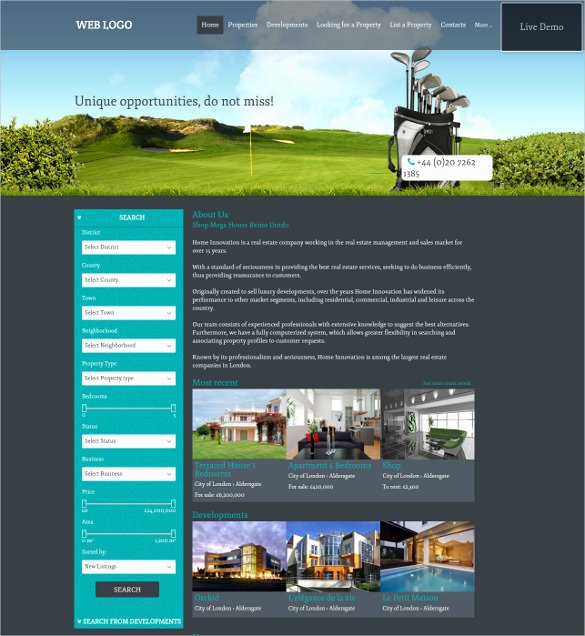 Real Estate Website Template Best Of 33 Real Estate Website themes & Templates