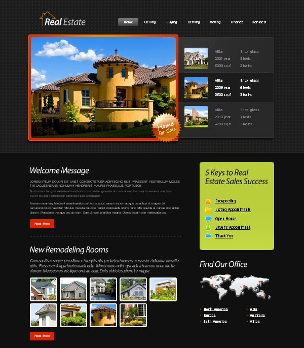 Real Estate Website Template Best Of Besplatni Xhtml Css Template